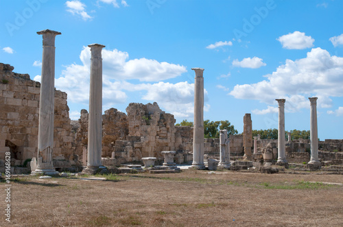 Foto op Aluminium Rudnes On antique Salamis's ruins in the sunny day. Northern Cyprus