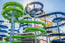 Colorful Water Slides In Aquap...