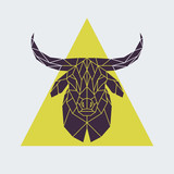 Polygonal buffalo head. Animal vector illustration. - 169174845