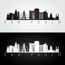 Sao Paulo Skyline And Landmark...