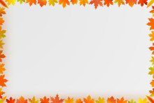 Autumn Maple Leaf Border Compo...