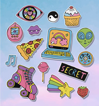 Cartoon Stickers Or Patches Se...