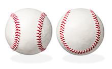Two Used Baseball Isolated On ...