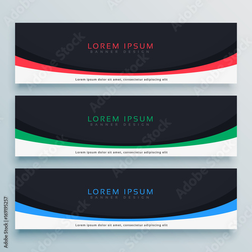 Fototapeta three abstract web banner design for your business obraz