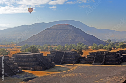View of the Pyramid of the Sun from the Pyramid of the Moon, Teotihuacan, Mexico
