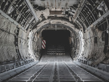 Inside Military Transport Plane