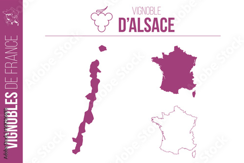 Carte Alsace Vector.Carte Du Vignoble D Alsace Buy This Stock Vector And