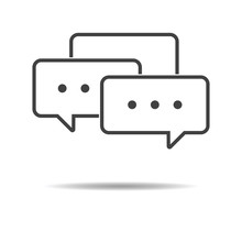 Trendy Chat Icon - Simple Flat Design Isolated On White Background, Vector