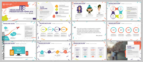 Valokuva  Color bubble elements for infographics on a white background