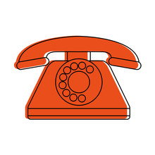 Vintage Rotary Phone Icon Imag...