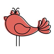 Cute Birdie Cartoon Icon Vector Illustration Graphic Design