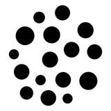 Okrągły motyw geometryczny. Abstrakcyjny element op-art w skali szarości - 169231285