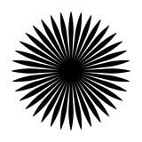 Okrągły motyw geometryczny. Abstrakcyjny element op-art w skali szarości - 169232653