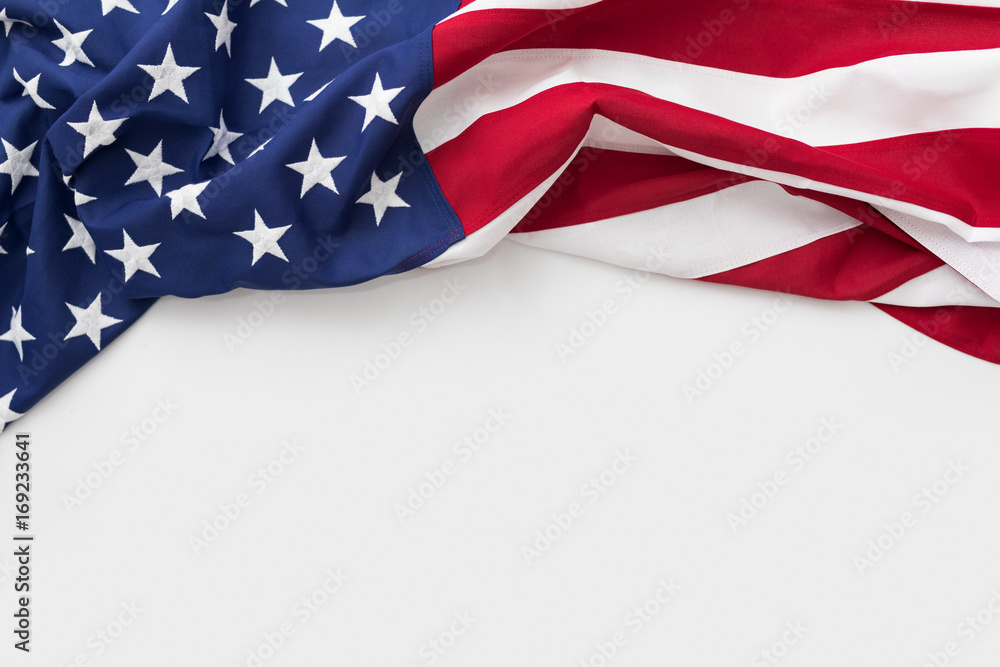 Fototapety, obrazy: American flag for Memorial Day, 4th of July, Labour Day
