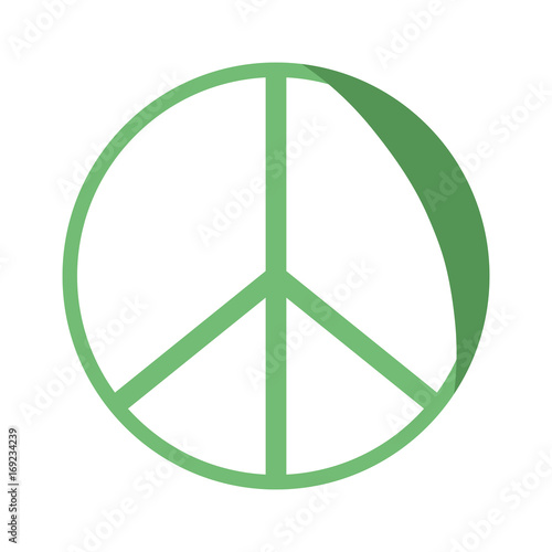 Silhouette Hippie Peace And Love Symbol Design Buy This Stock