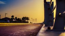 Dubai - The Promenade Of Palm Island At The Sunrise