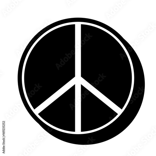 Figure Hippie Peace And Love Symbol Design Buy This Stock Vector