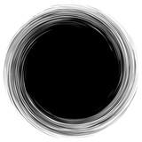 Okrągły motyw geometryczny. Streszczenie op-art w skali szarości - 169235467