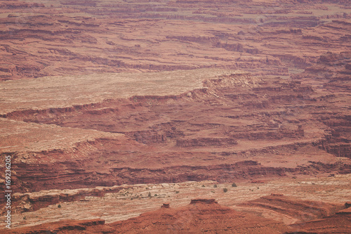 Poster de jardin Desert de sable Orange Rock Formations in Canyonlands National Park