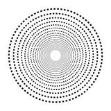 Okrągły motyw geometryczny. Abstrakcyjny element op-art w skali szarości - 169237699
