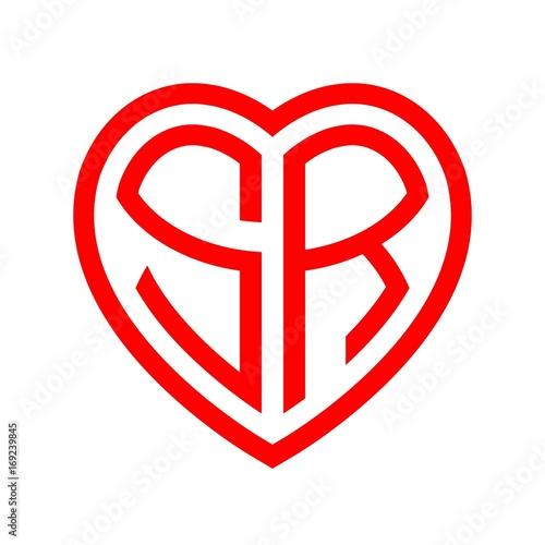 Initial Letters Logo Sr Red Monogram Heart Love Shape Buy This Stock Vector And Explore Similar Vectors At Adobe Stock Adobe Stock