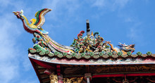 Asian Temple Roof Dragon