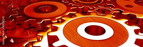 Fotografie, Obraz  gear wheels banner