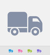 Delivery Truck - Granite Icons. A professional, pixel-perfect icon designed on a 32x32 pixel grid and redesigned on a 16x16 pixel grid for very small sizes.