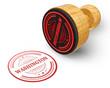 Washington red grunge round stamp isolated on white Background