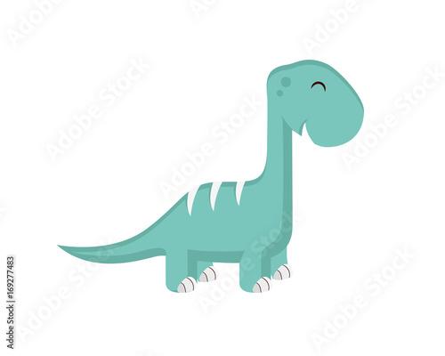 Flat Cute Dinosaur Character Wallpaper Mural