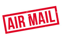 Air Mail Rubber Stamp. Grunge ...