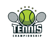 Modern Professional Isolated Sports Badge Logo - Tennis Match Championship