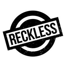 Reckless Rubber Stamp. Grunge ...