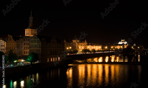 Fotobehang Volle maan Prague at night