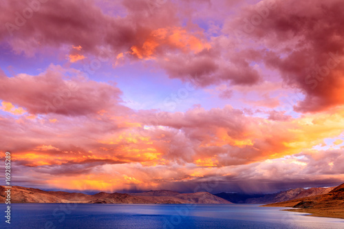Canvas Prints Coral Lake Tso Moriri