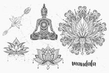 Mandala Set And Other Elements...