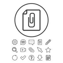 File Annex Icon. Paper Clip Sy...