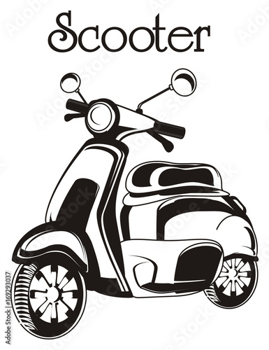 Moped Scooter Motorcycle Transport Bicycle Not Colored Black
