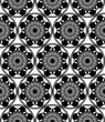 Vector seamless floral pattern. Background with flowers and leaves. Black and white