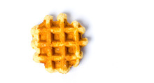 Baked Waffles Isolated On Whit...