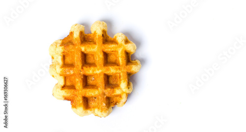 Cuadros en Lienzo Baked waffles isolated on white background