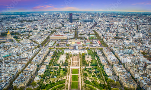 Obraz na dibondzie (fotoboard) Paryż z Wieży Eiffla