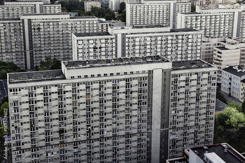 Fotografia  bloki mieszkalne