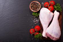 Fresh Turkey Legs With Ingredi...