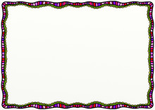 Abstract Doodle Page Border De...