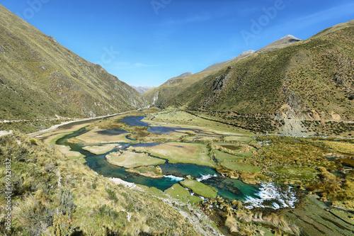 Garden Poster Scandinavia Clear waters of Cañete river near Vilca villag, Peru