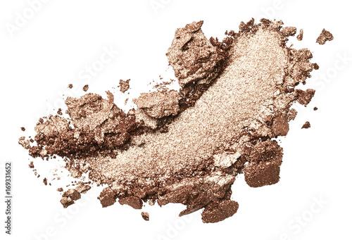 Obraz Bronze eye shadow stroke isolated on white background - fototapety do salonu