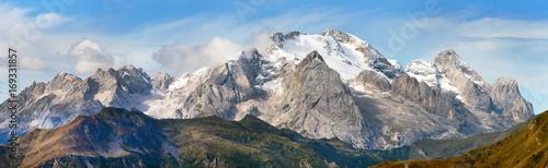 Foto auf Gartenposter Gebirge View of Marmolada, Dolomites mountains, Italy