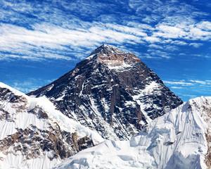 Fototapeta Góry Mount Everest with clouds from Kala Patthar