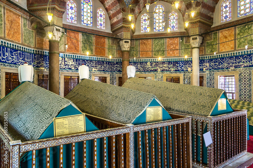 Obraz na plátně Tomb of sultan Suleyman in Istanbul
